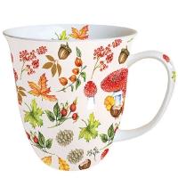 Porzellan-Tasse - Autumn Pattern