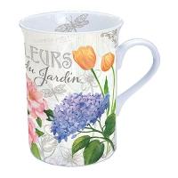 Porzellan-Tasse Fleurs Du Jardin