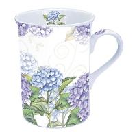 Porzellan-Tasse - Hortensia