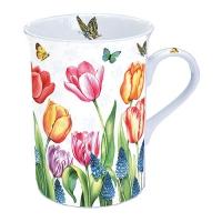 Porzellan-Tasse Tulips & Muscari