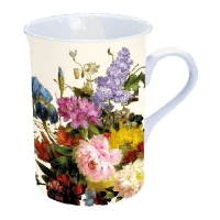 Porzellan-Tasse - Still Life Bouquet Cream