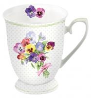 Porzellan-Tasse - Bunch of Violets Green