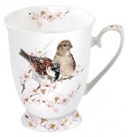 Porzellan-Tasse - Sparrows Blossom
