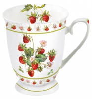 Porzellan-Tasse - Fresh Strawberries