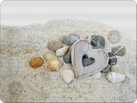 Tischsets - Herz und Steine