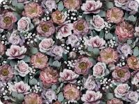 Tischsets - Vintage Flowers Black