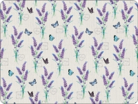 Tischsets - Lavender With Love Cream