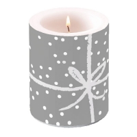 Kerze Candle Big Wrapping Silver Pos.