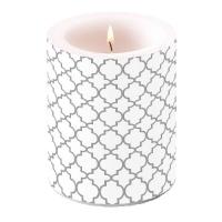 Kerze Candle Big Ogee Silver Outline