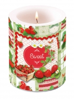 Dekorkerze Candle Big Sweet Strawberries
