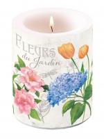 Dekorkerze Candle Big Fleurs Du Jardin