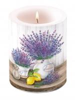 Dekorkerze - Lavendel