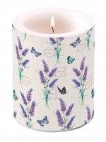 Dekorkerze - Lavender With Love Cream