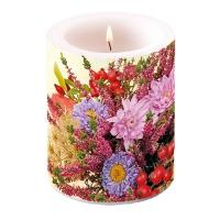 Dekorkerze - Autumn Flowers