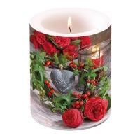Dekorkerze - Roses And Ivy