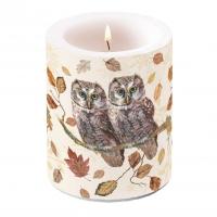 Dekorkerze - Owl Couple