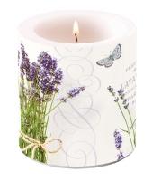 Dekorkerze klein - Lavendelstrauß
