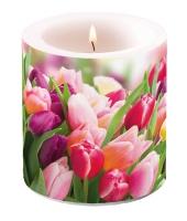 Dekorkerze klein - Herrliche Tulpen