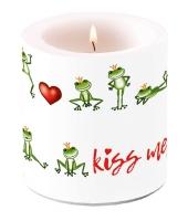 Dekorkerze klein - Kiss Me