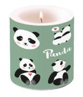 Dekorkerze klein - Pandabären