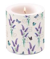 Dekorkerze klein - Lavender With Love Cream