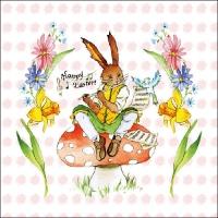 Lunch Servietten Easter Song Rose