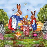 Lunch Servietten Family Hare