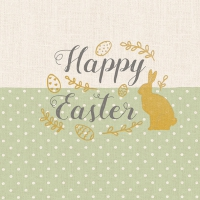 Servietten 33x33 cm - Embroidery Easter Green