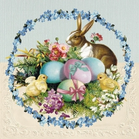 Servietten 33x33 cm - Easter Egg Wreath