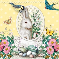 Servietten 33x33 cm - White Rabbit Yellow