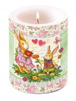 Kerze Candle Big Dear Mum Green