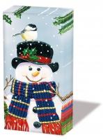 Taschentücher Snowman Couple