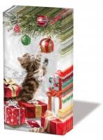 Taschentücher Kitten And Bauble