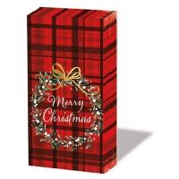 Taschentücher - Christmas Plaid Red