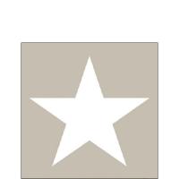 Servietten 25x25 cm - Sternsand