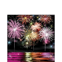 Servietten 25x25 cm - Fire Works