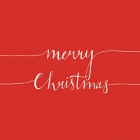 Servietten 25x25 cm - Christmas Note Red