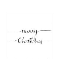 Servietten 25x25 cm - Weihnachtsnotiz Weiß