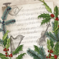 Servietten 25x25 cm - Christmas Song