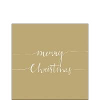 Servietten 25x25 cm - Christmas Note Gold