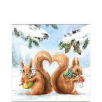 Servietten 25x25 cm - Squirrel Love