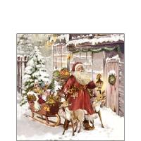 Servietten 25x25 cm - Christmas Visit