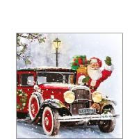 Servietten 25x25 cm - Santa Automobile