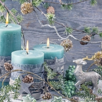 Servietten 25x25 cm - Blue Candles