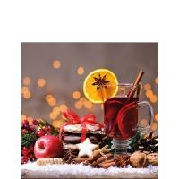 Servietten 25x25 cm - Weihnachten Glühwein