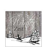 Servietten 25x25 cm - Winter Zeit Grau