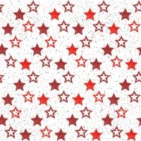 Servietten 25x25 cm - Stars All Over Red