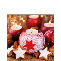 Servietten 25x25 cm - Star On Candle