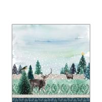 Servietten 25x25 cm - Deer Winterscene