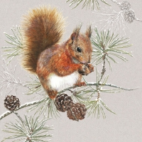 Servietten 25x25 cm - Squirrel In Winter